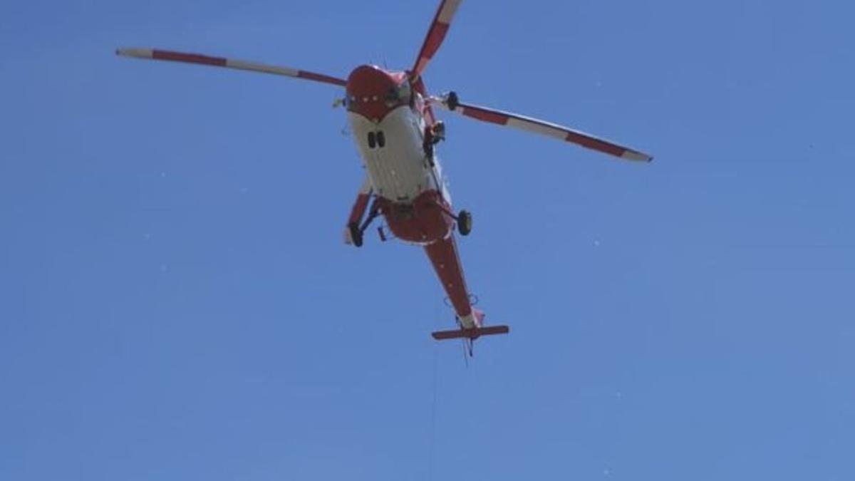 Imagen de archivo del helicóptero del GES.