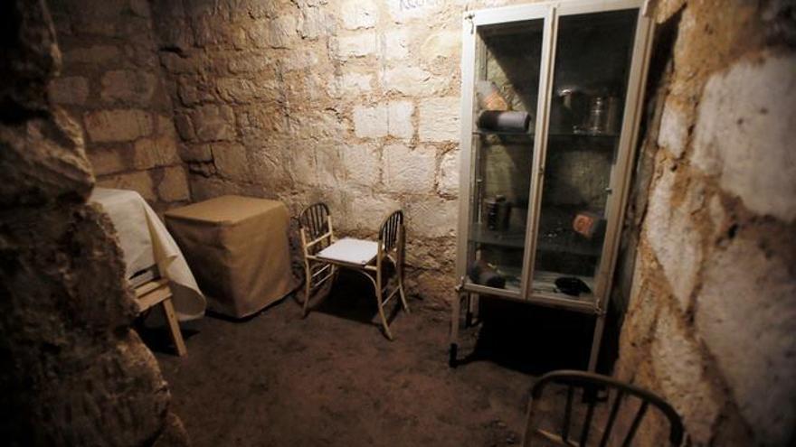 El interior de uno de los refugios de la Guerra Civil de Alicante.