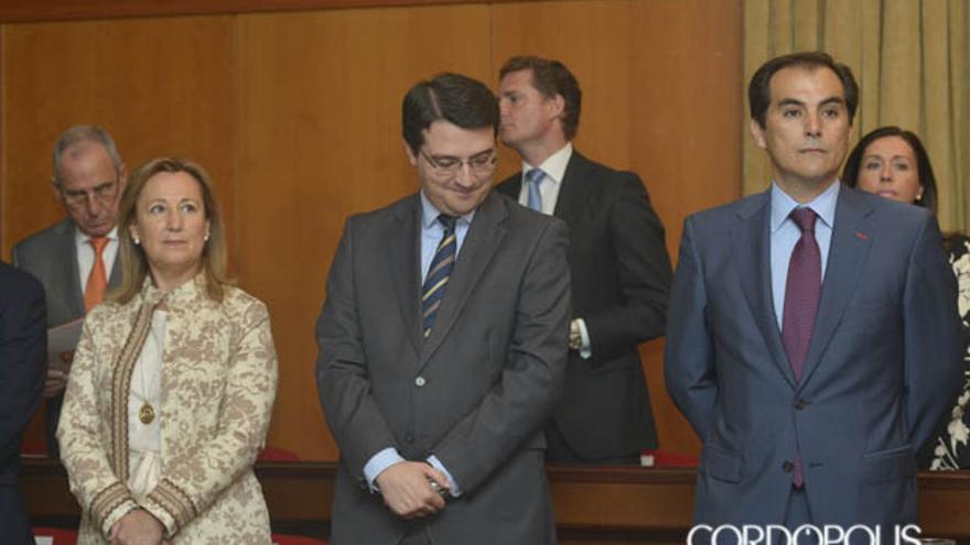 Los populares Laura Ruiz, José María Bellido y José Antonio Nieto, en una imagen de archivo | TONI BLANCO