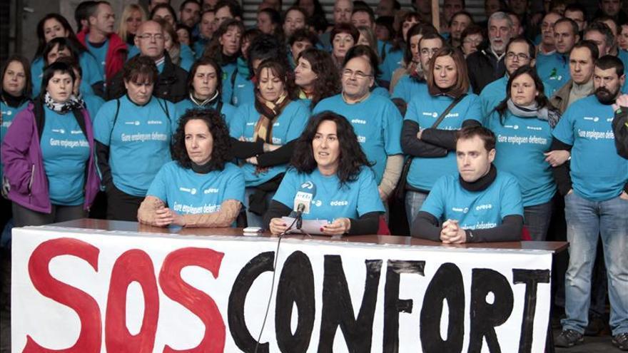 La plantilla de Edesa cumple 100 días de encierro en defensa de sus empleos