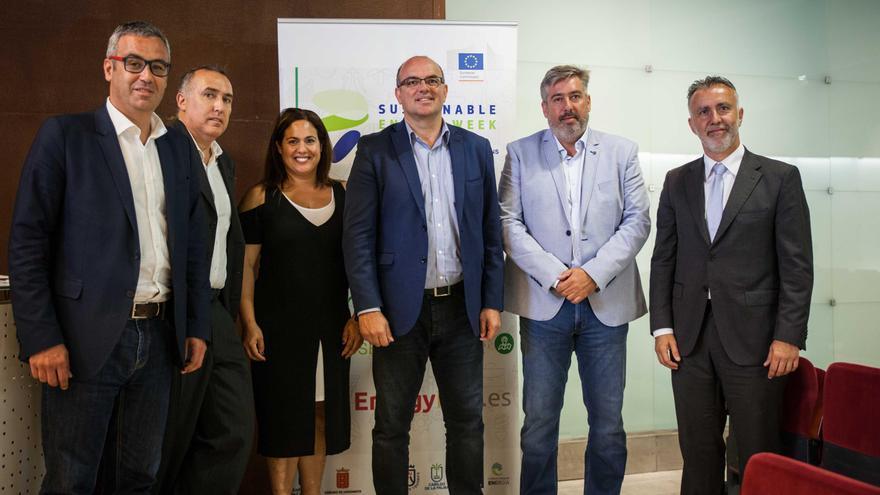 Acto de inauguración de la jornada celebrada en La Palma de la Semana Europea de la Energía Sostenible.
