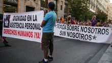 """""""Nada sobre nosotros sin nosotros"""", marcha en defensa de la vida independiente. /  Fuente: OVI Barcelona."""