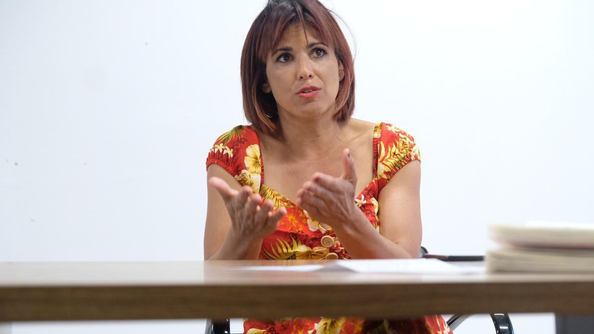 Teresa Rodríguez durante una entrevista con eldiario.es/Andalucía