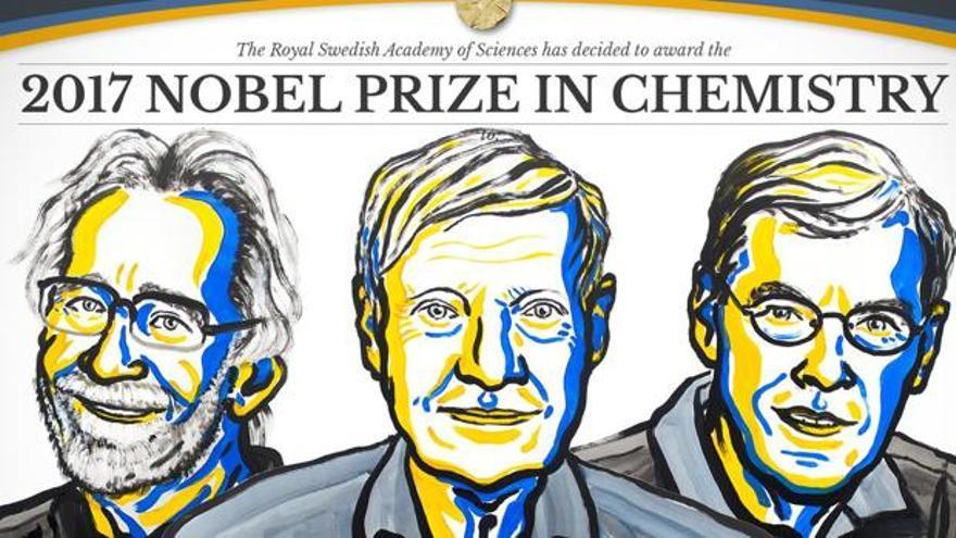 Jaques Dubochet, Joachim Frank y Richard Henderson ganadores del Nobel de Química 2017