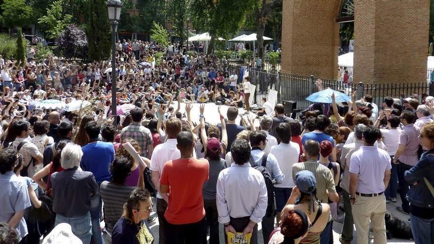 Asamblea de barrio del 15M en Madrid (EFE)