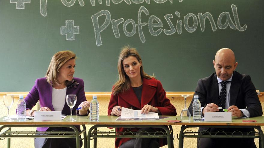 Dolores de Cospedal, Letizia Ortiz y Jaime García-Legaz, en una imagen de archivo.