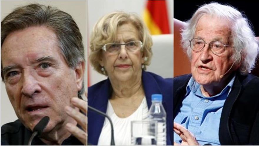 Iñaki Gabilondo, Manuela Carmena y Noam Chomsky, entre los firmantes del manifiesto.