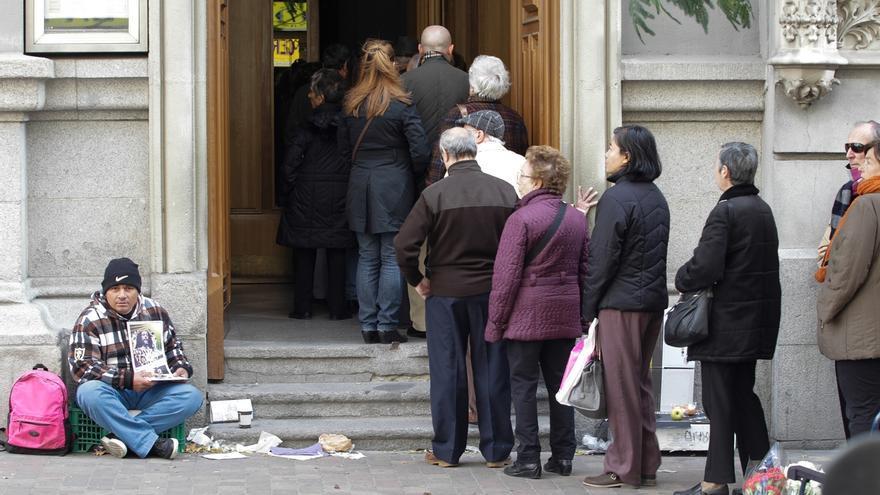 La renta media de las personas sin hogar en Euskadi es de 370,6 euros al mes
