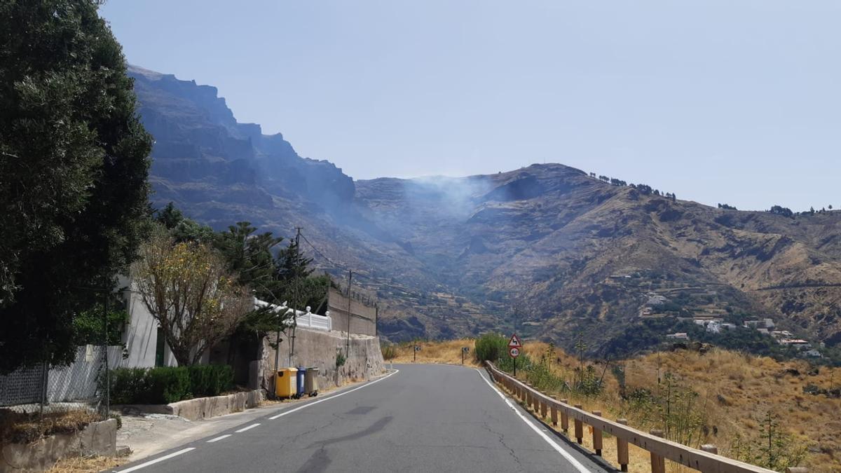 Conato de incendio en la Degollada de Las Palomas, en San Mateo