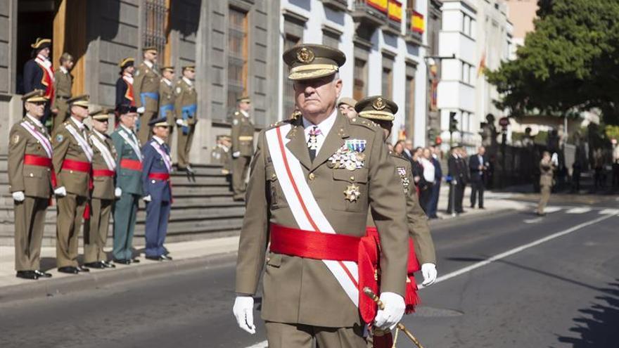 El teniente general jefe del Mando de Canarias, Pedro Galán