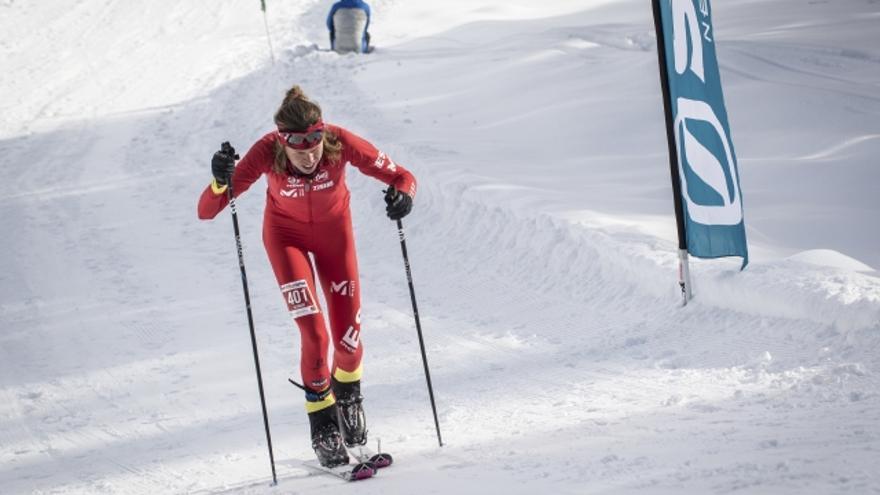 Laura Orgué durante la Vertical Race (© ISMF).