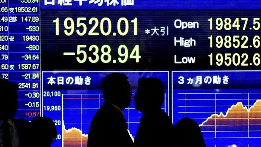 El Nikkei sube un 1,30 por ciento hasta los 19.631,34 puntos