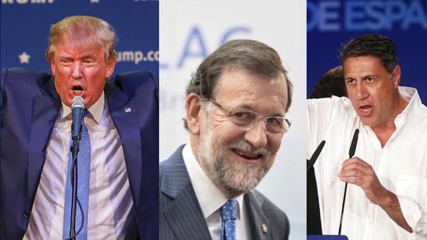 Donald Trump, Mariano Rajoy y García Albiol