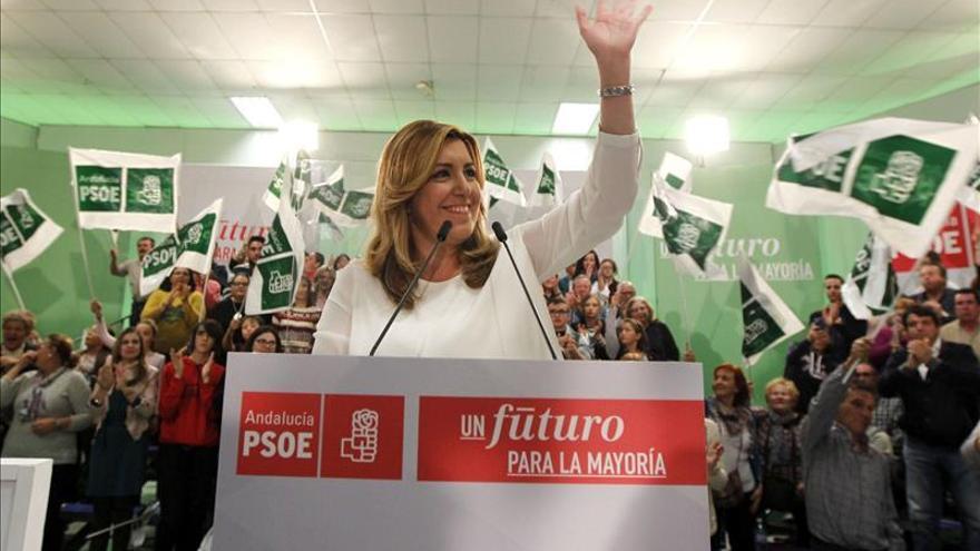 Susana Díaz: Cuanto más fuerte sea el PSOE, más fuerza para defender los derechos