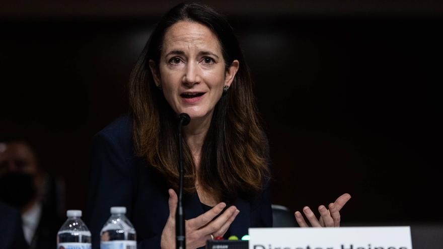 En la imagen, la directora de Inteligencia Nacional de EEUU, Avril Haines.