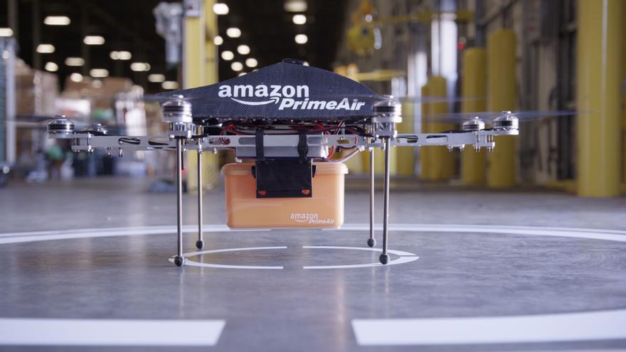 Los famosos drones de Amazon, que nadie ha visto ni espera – de momento (Foto: Amazon)