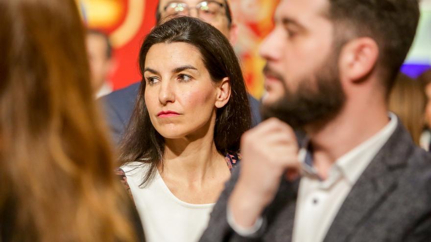La portavoz del Grupo Vox en la Asamblea de Madrid, Rocio Monasterio.