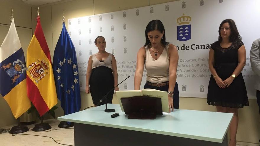 En la imagen, Carmen Acosta, este miércoles, en el acto de toma de posesión del cargo de directora general de Políticas Sociales e Inmigración.