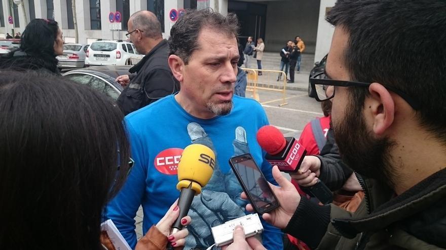El presidente del comité de empresa de Coca-Cola Fuenlabrada, Juan Carlos Asenjo