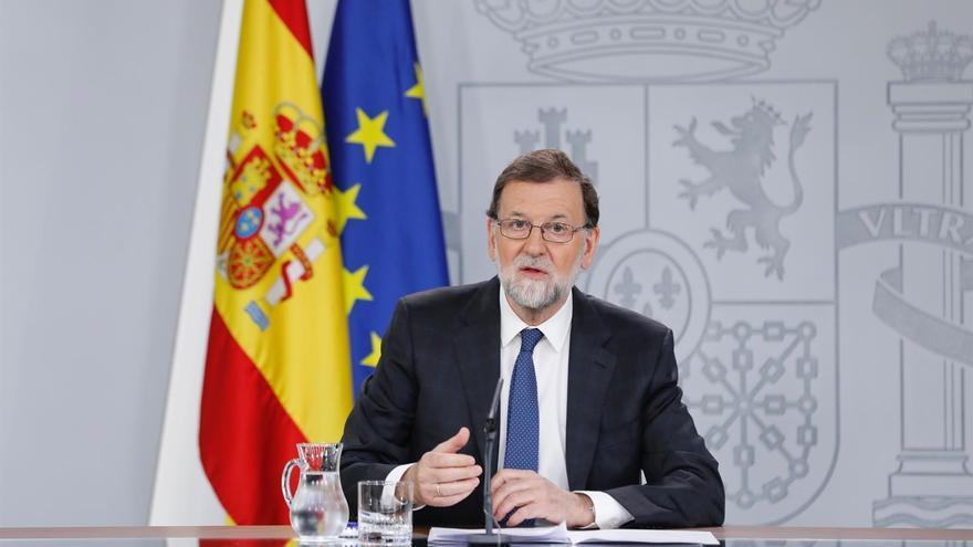 Mariano Rajoy comparece en Moncloa tras la presentación de la moción de censura del PSOE
