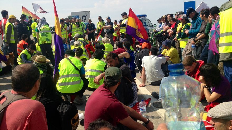 La columna del Mediterráneo, una de las Marchas de la Dignidad, en su camino hacia Madrid (Foto: Olga Rodríguez)