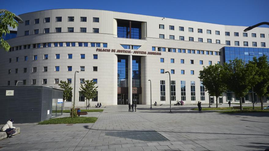 Fachada del Palacio de Justicia de Pamplona, a 10 de mayo de 2021, en Pamplona, Navarra, (España).