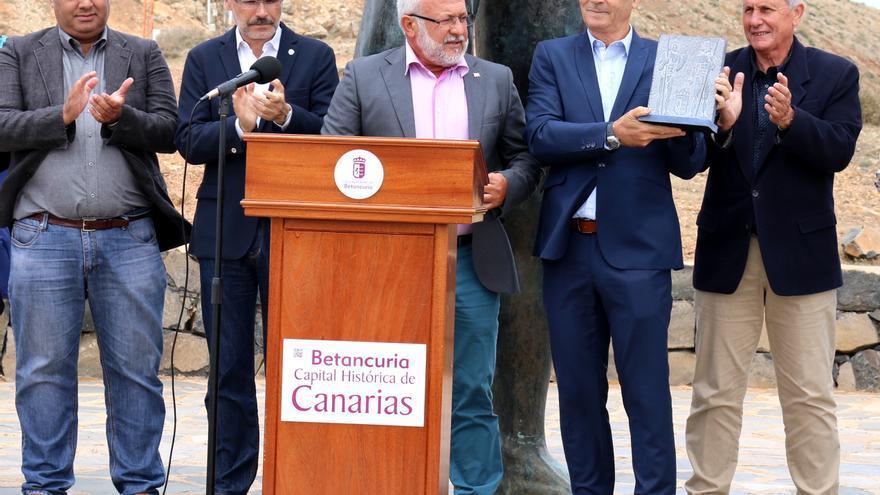 Entrega del 'Premio Betancuria Capital Histórica de Canarias' 2017 al Silbo Gomero