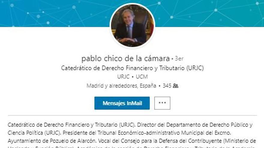 Página de Linkedin de Pablo Chico de la Cámara.