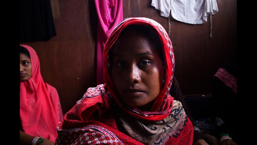 Refugiada rohingya en en el campo de Bayeun, en Aceh (Indonesia). © Carlos Sardiña Galache / Yayasan Geutanyoe – A Foundation for Aceh.