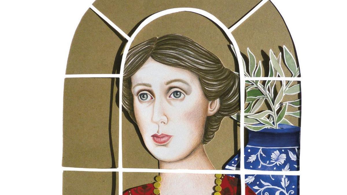 Portada de la edición ilustrada de 'Una habitación propia' ilustrada por Sara Morante y editada por Elena Medel