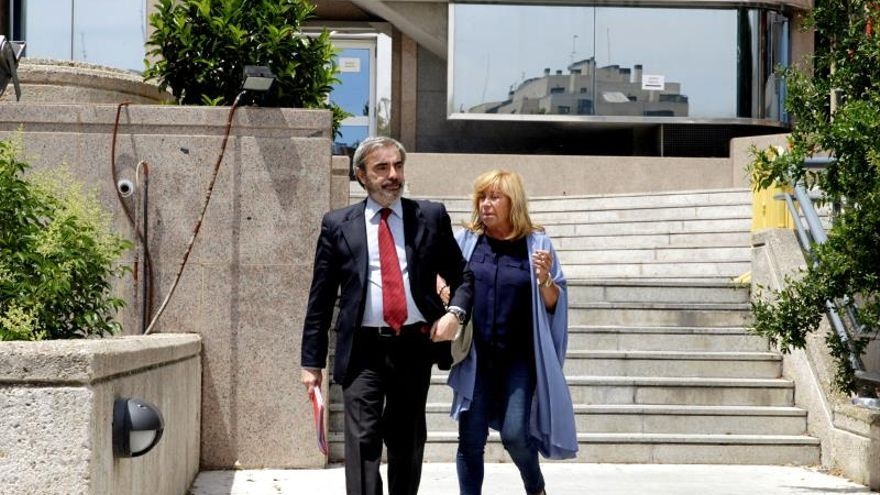 La aristócrata Cristina Ordovás Gómez-Jordana el pasado 10 de junio a su salida del juicio en la Audiencia Provincial de Madrid