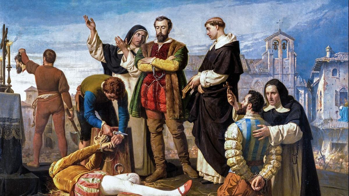 Ejecución de los comuneros de Castilla, obra de Antonio Gisbert Pérez (1860)