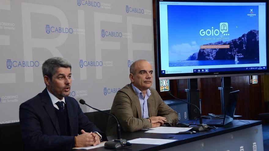 Alberto Bernabé, consejero insular de Turismo, junto a Vicente Dorta, consejero delegado de la empresa pública Turismo de Tenerife