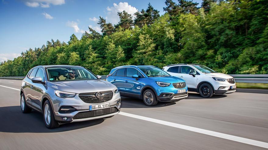 La familia X de Opel, formada por el Mokka, el Crossland X y Grandland X.