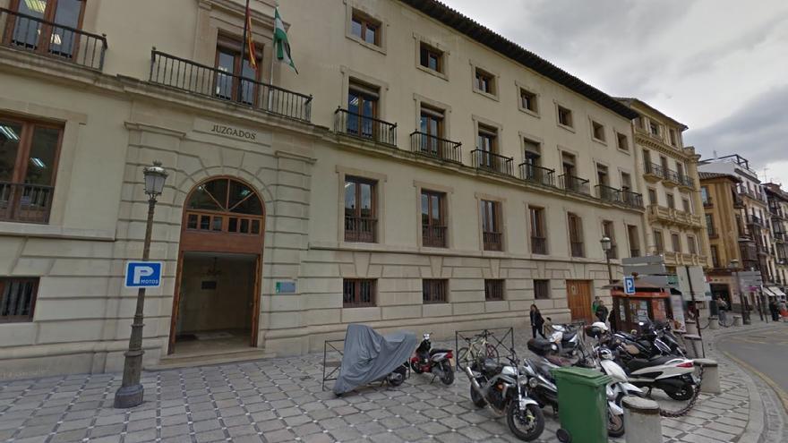 Vista de los juzgados de Granada en GoogleMaps.