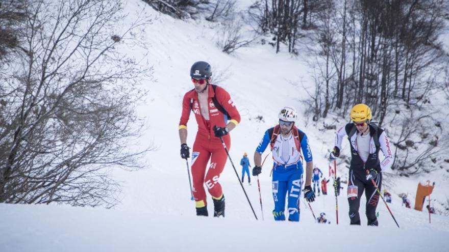 Kilian Jornet en la carrera Vertical celebrada en Piancavallo.