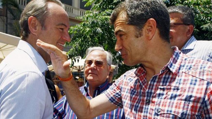 Alberto Fabra y Toni Cantó, en Valencia.