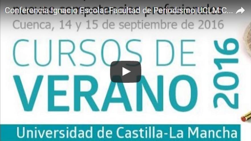 Conferencia de Ignacio Escolar en el campus de Cuenca