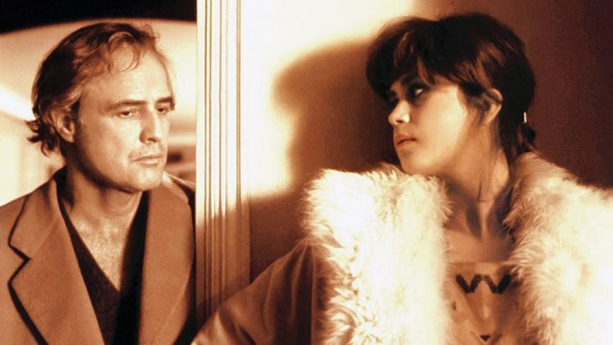 Marlon Brando y María Schneider en 'El último tango en París'