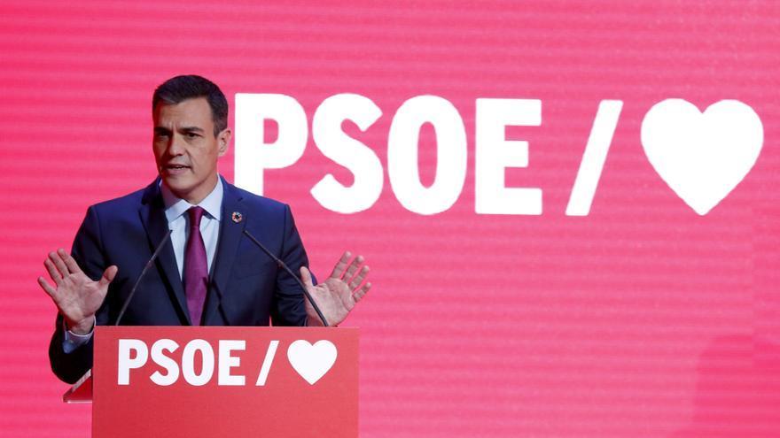 Pedro Sánchez, en la presentación de la precampaña.