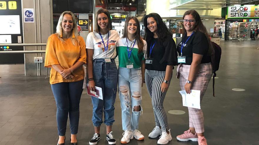 Grupo del curso en lengua francesa en Francia.