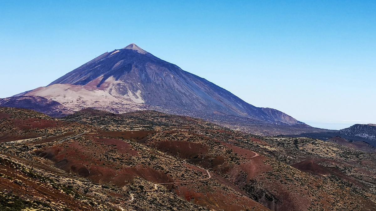 Vista del Teide desde el observatorio de Izaña