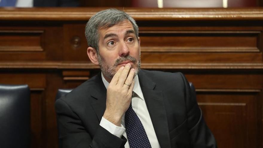 El presidente de Canarias, Fernando Clavijo, durante la segunda jornada del debate general del estado de la nacionalidad canaria