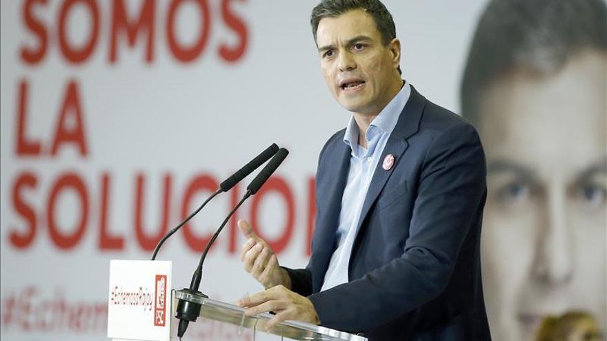 """Sánchez: """"Haciendo frente al PP defendemos a la mayoría"""""""