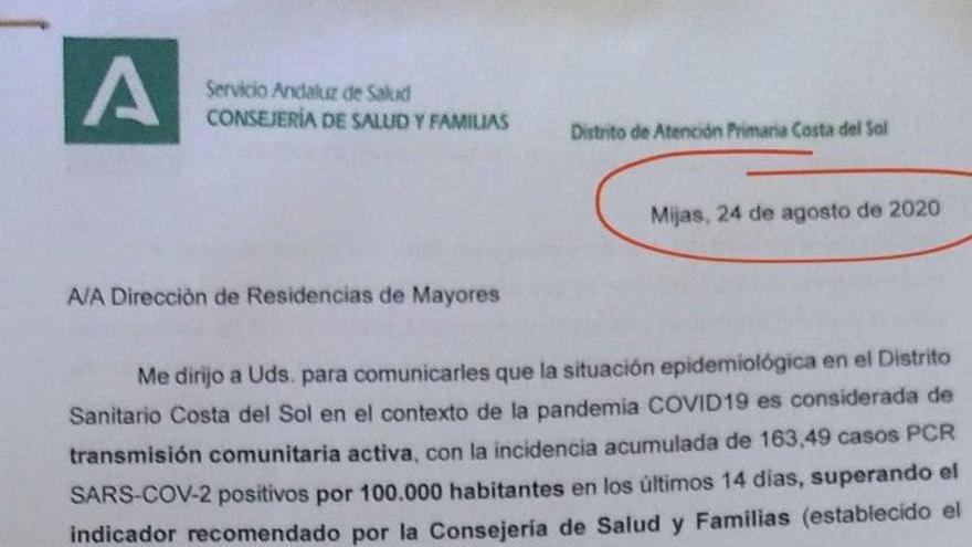 El Gobierno andaluz detectó la