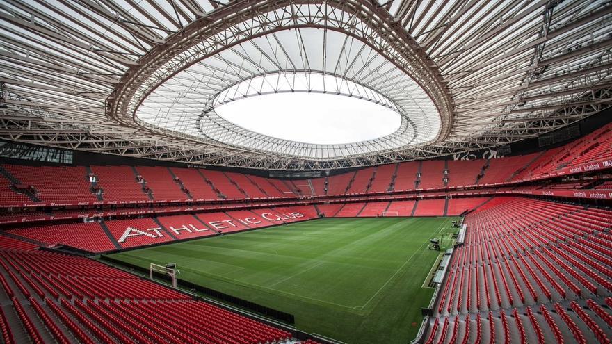 El estadio de San Mamés se iluminará de morado y se repartirán 45.000 cartulinas para confeccionar un mosaico