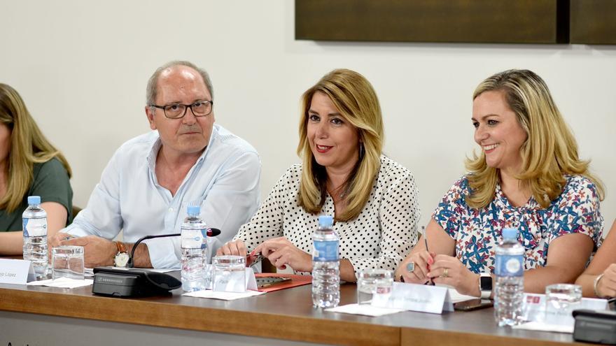Reunión de la Ejecutiva regional del PSOE andaluz, presidida por Susana Díaz.