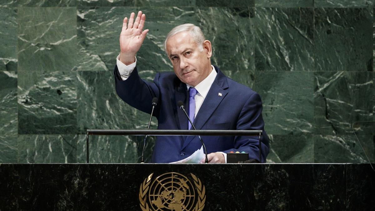 En la imagen, el presidente israelí, Benjamin Netanyahu.