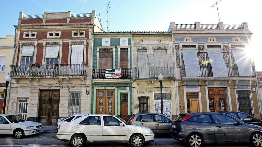 Casas del barrio del Cabanyal, en Valencia. (EFE)