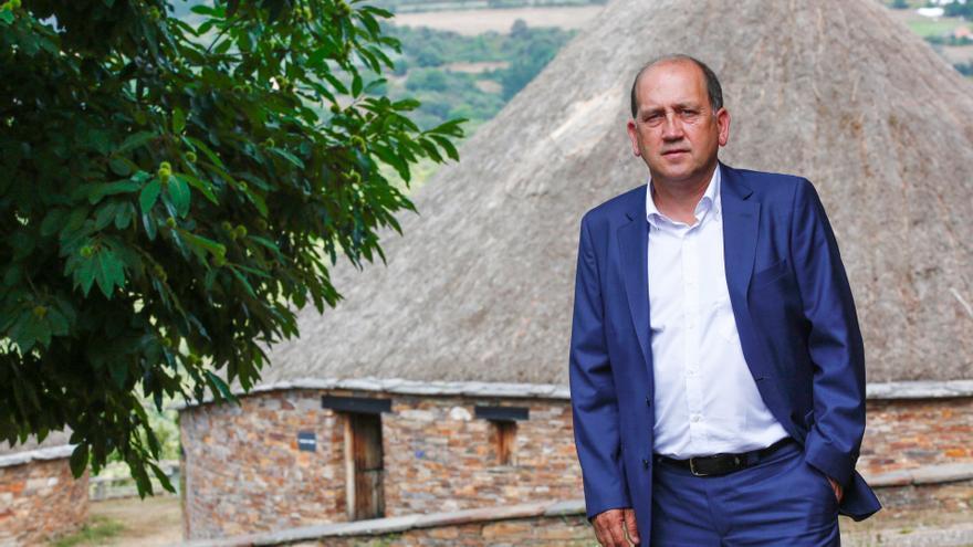 Xoaquín Fernández Leiceaga, en una foto de su campaña. Foto: Pradero.